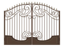 Forged gate with spearheads