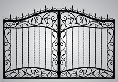 Forged gate. Vector EPS10 Royalty Free Stock Photo