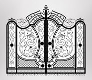 Forged gate. Royalty Free Stock Photography
