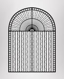 Forged gate. Royalty Free Stock Images