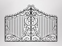 Forged gate. Vector EPS10 Royalty Free Stock Image