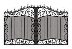 Forged gate. Royalty Free Stock Photos