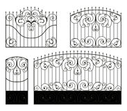 Forged gate, wicket and fence Stock Images