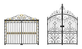 Forged gates Royalty Free Stock Image