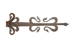 Old wrought iron door hinge Royalty Free Stock Image