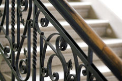 Forged handrail Stock Photo