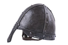 Forged helmet on a white background Stock Photography