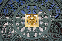 Forged iron fence on Piazza Castello in Turin Royalty Free Stock Photography