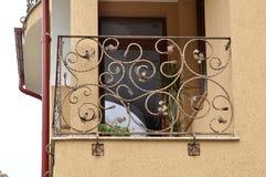 Forged iron fence Stock Image