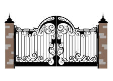 Free Forged Iron Gate Royalty Free Stock Photos - 3141888