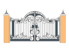 Forged iron gate Royalty Free Stock Photos