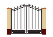 Forged iron gate Royalty Free Stock Image