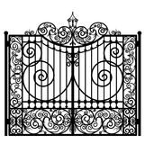 Forged iron gate Stock Image