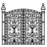 Forged iron gate Royalty Free Stock Photos
