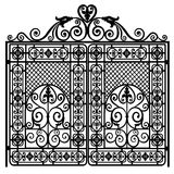 Forged iron gate Royalty Free Stock Images