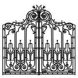 Forged iron gate Stock Photos