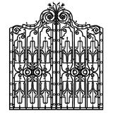 Forged iron gate Stock Photos