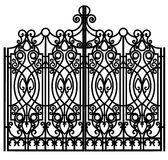 Forged iron gate Royalty Free Stock Photo