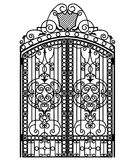 Forged iron gate Royalty Free Stock Photography