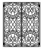 Forged iron gate Stock Images