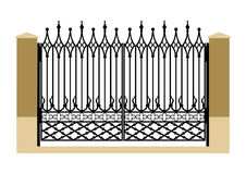 Forged iron gothic gate Stock Photos
