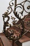 Forged iron railing Stock Photography
