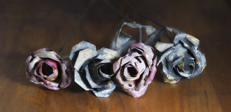 Forged iron rose Royalty Free Stock Photos
