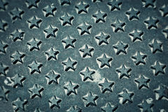 Forged Iron with Stars Pattern Royalty Free Stock Photos