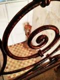 Forged kędzierzawy stary ogrodzenie obrazy royalty free