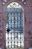 Forged lattice fence gate Royalty Free Stock Photography