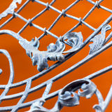 Forged metal close-up Royalty Free Stock Images
