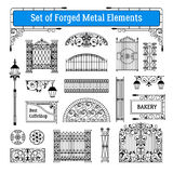 Forged Metal Elements Set Royalty Free Stock Photos