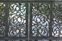 Forged metal fence Royalty Free Stock Images
