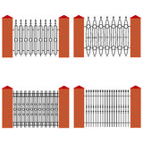 A forged metal fence royalty free illustration