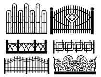 Forged metal fences Royalty Free Stock Photos