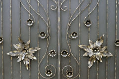 Forged metal gate Stock Photography