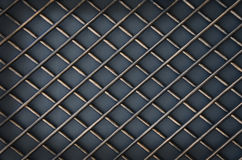 Forged metal lattice on gray background Royalty Free Stock Images