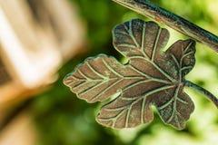 Forged metalu gronowego liścia wewnętrzna dekoracja Obraz Stock
