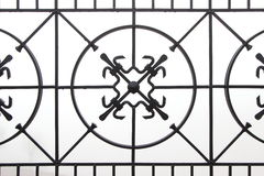 Forged metalu ogrodzenie na białym tle Zdjęcie Stock