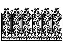 Forged modular fence Stock Images