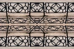 Forged openwork iron fence - an infinite canvas, seamless texture from the photo royalty free stock photography