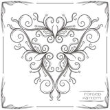 Forged Pattern One. Pattern wrought products on a white background and framed. Can be used as a decorative element in the design, or as a model for the drawing Royalty Free Stock Photos