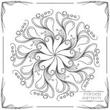 Forged Pattern Three. Pattern wrought products on a white background and framed. Can be used as a decorative element in the design, or as a model for the drawing Stock Photos