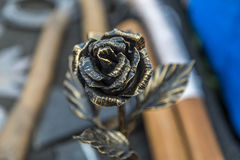 Forged rose Stock Photography