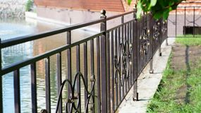 Forged steel fence Royalty Free Stock Photos