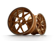 Forged wheels Royalty Free Stock Photography