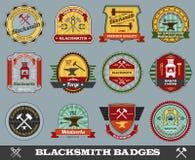 Forgeron Badges Set Photographie stock libre de droits