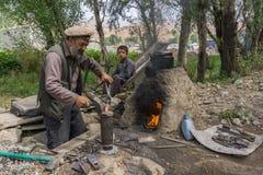 Forgeron de Bamyan Afghanistan Image libre de droits