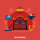 Forgeron Iron Works Background Illustration Libre de Droits