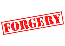 FORGERY Royalty Free Stock Image